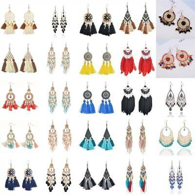 NEW Women Fashion Tassel Hook Drop Dangle Earrings Jewelry Lot Styles