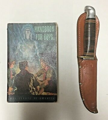 Vintage Western Official Boy Scouts Of America Knife & Handbook