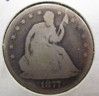 1877 P Seated Liberty Half Dollar - US Coin