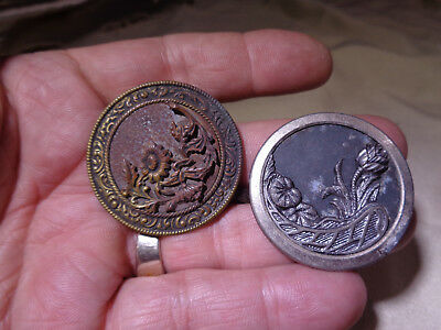 ~*~Estate Find~*~ 2 Antique Sewing Buttons   #17