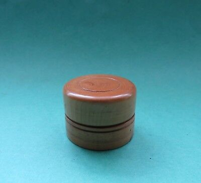 Antique Treen Screw Top Box   Turned Boxwood
