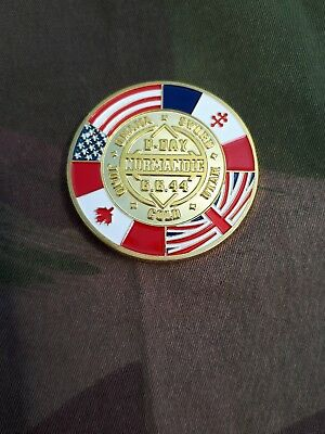 D-DAY 1944 NORMANDY Collectors Coin Sammler Münze Normandie GB US FR CAN FORCES
