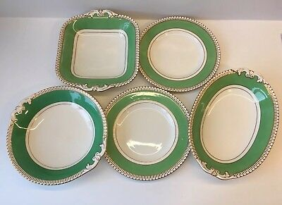 George Jones and Son Antique Crescent China 5 Pieces