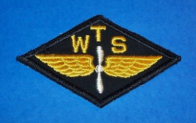Rare Original Twill Ww2 Wts War Training Service Civilian Pilot Training Patch