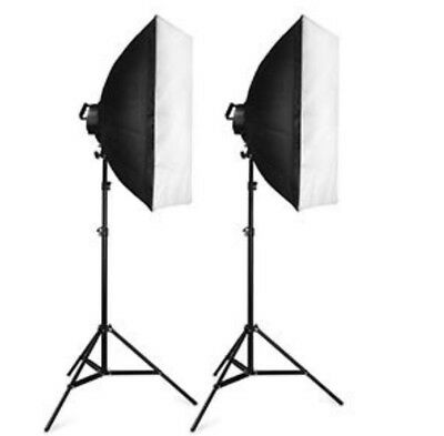 2 x Photo Studio Softbox Continuous Lighting Kit ,3 x Backdrop 3 x Clamps