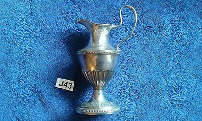"Vintage  ""grenadier"" Silver Plated Wine Jug Small 6"" Grapevine Pattern"