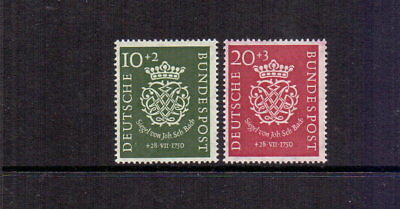 West Germany 1950 Bach Pair Mnh Cat £170