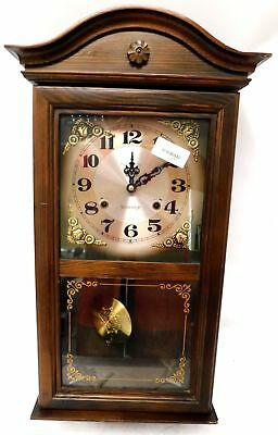 PRESIDENT 31-Day Vintage Chiming Mechanical Wall Hanging Clock 1970s - G27