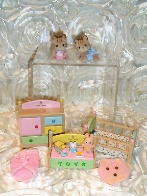 Calico Critters, Tabby Cat Twins, Tanner & Talulah, Sylvanian Families