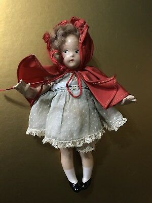 Vintage MME Madame Alexander Little Red Riding Hood Tiny Betty Composition Doll