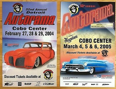 (Lot of 2) ~ ORIGINAL 52nd & 53rd ANNUAL DETROIT AUTORAMA ~ Official POSTERS!