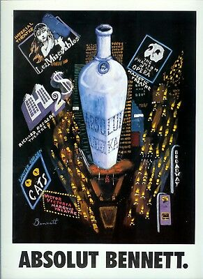 Absolut Bennett  Ad-One Page Original Ad    -Build A Lot All Ship Free