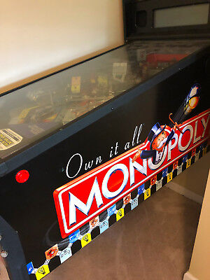 Stern Monopoly Pinball Machine Great Working Condition
