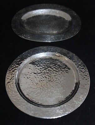 (2) Vintage MEXICO Plateria Guadalajara Sterling Silver 925 Hammered Trays 335g