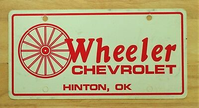 Vintage 1960s Chevrolet Ok Used Car License Plate Original Rare