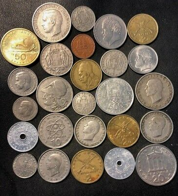 Old Greece Coin Lot - 1926-PreEuro - 25 Collectible Coins - Lot #918