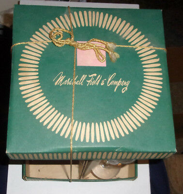 Cool Vintage Marshall Fields And Company Storage/Carry Box w/4 Cordial Glasses