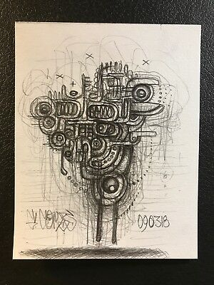 Low Brow Art Pencil Drawing Abstract Graphite Dark Pop