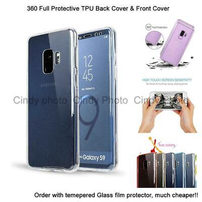 360 Full Body Soft Rubber Case Crystal Front+Back Cover For Samsung Galaxy