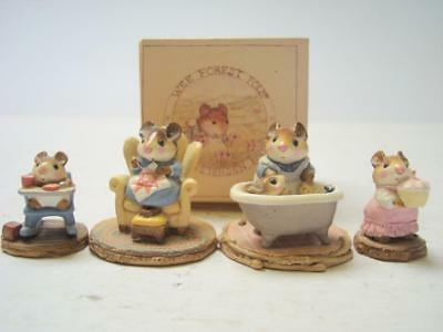 Lot of 4 Wee Forest Folk Mice with 1 Original Box