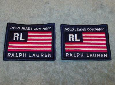 2 Nos Ralph Lauren Polo Jeans Company Embroidered Patches