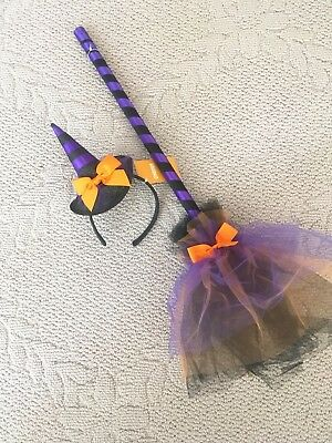 GYMBOREE NWT Two Piece Witch Halloween Broom and Hat Headband