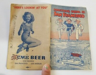 Vintage Acme Beer Pinup San Francisco WWII War Time Homefront Souvenir Guide