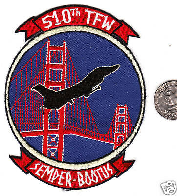 Air Force Squadron Patch 510 Tactical Fighter Wing Babylon 5 Golden Gate Bridge?