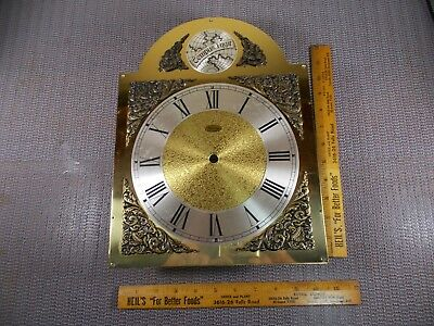 Vintage Nos Ridgeway Westminster Chime Grandfather Clock Face, Excellent