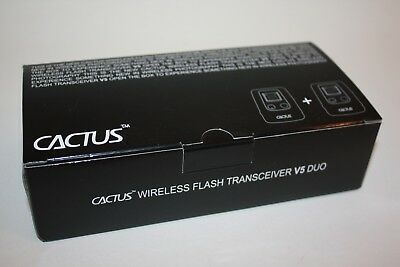 CACTUS Wireless Flash Transceiver V5 DUO Flash Trigger BRAND NEW In Box