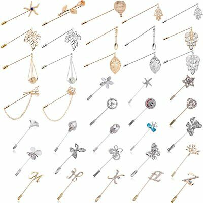 Women Men Unisex Crystal Pins Brooches Collar Charm Jewellery Suit Dress Gift