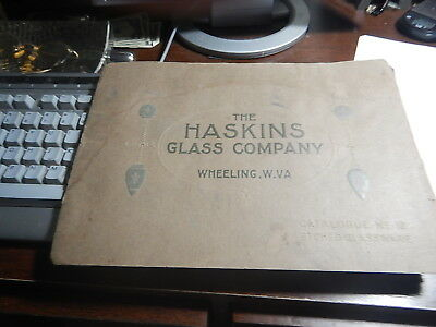 Antique Reference Book Old Catalog The Haskins Glass Company Wheeling WV