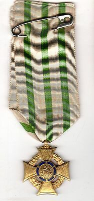 Original WWI Imperial German Saxon War Merit Medic Cross w Wreat 1914-1918 Medal