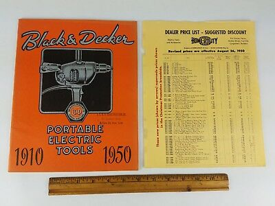 Vintage Antique 1950 Black Decker Power Tool Catalogs Ad Book Old