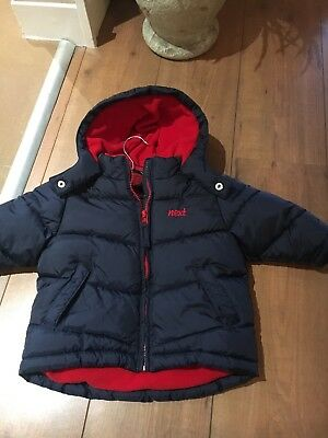 Next Baby Boys Navy Winter Padded Coat Age 9/12 Months Warm Smart Top Quality