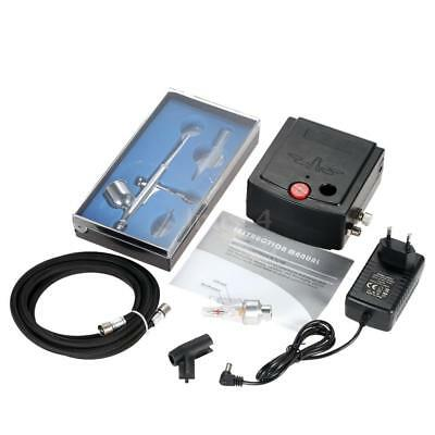 Gravity Feed Dual Action Airbrush Air Compressor Kit Art Painting Tattoo I3W4