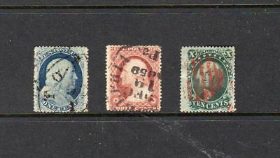 United States - 1857-1861 - used selection