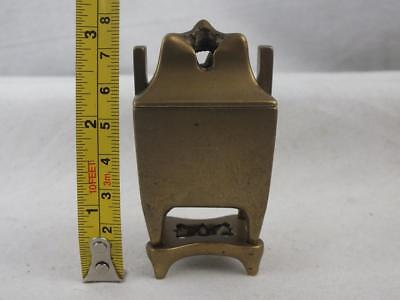 Rare Heavy 18Th C Chinese Bronze Scholars Miniature Censer Cover & Stand