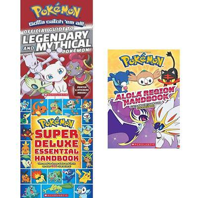 Pokemon Super Deluxe Essential Guide to Legendary 3 Books Collection Pack Set