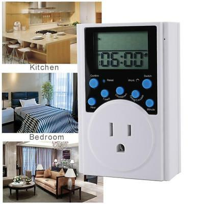 Multifunctional LCD Timer Outlet Infinite Programmable Plugin Switch Socket