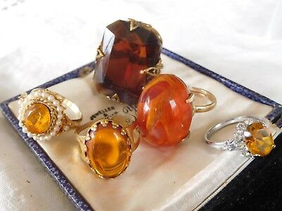 Lovely Mixed Collection of Vintage 1950s/60s Dress Rings