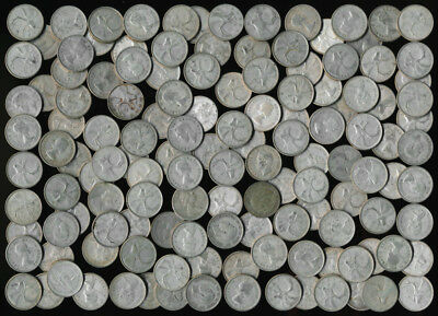 132 OLD .800 SILVER CANADA QUARTERS (NEARLY 20 TrOz Actual Silver Wt) NO RSRV