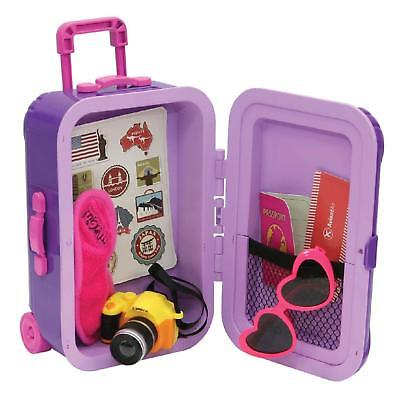 "Molly Dolly Suitcase Set For 18"" Doll Our Generation Accessories Clothes"