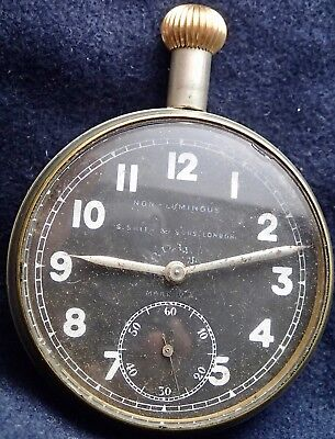 Royal Flying Corps MARK IV.A 8 Day Cockpit Pocket Watch S.Smith & Sons London