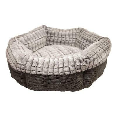 """Rosewood 40 Winks Bedding Tweed And Plush Cat / Pet Bed 19"""""""