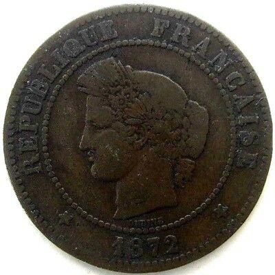 France Coins, 5 Centimes 1872, Ceres