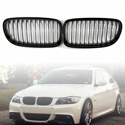 Gloss Black Front Kidney Grille Grill For BMW E90 E91 325i 328i 335i 2008-2011