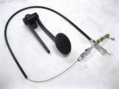 """BLACK Street Rod Hot Rod Universal Oval Aluminum Gas Pedal + 24"""" Throttle Cable"""
