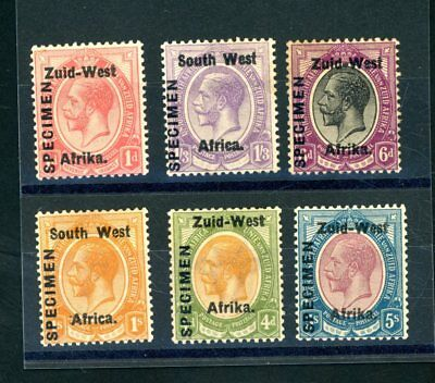 South West Africa  GV  Specimen opts  (Some Toning)  Hinged MINT    (S995)