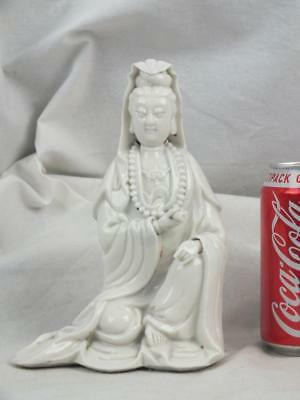 19Th C Chinese Porcelain Blanc De Chine Guanyin Figure - Signed